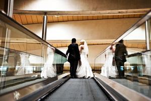 Mit den Hochzeitsfotografen durch Leipzig