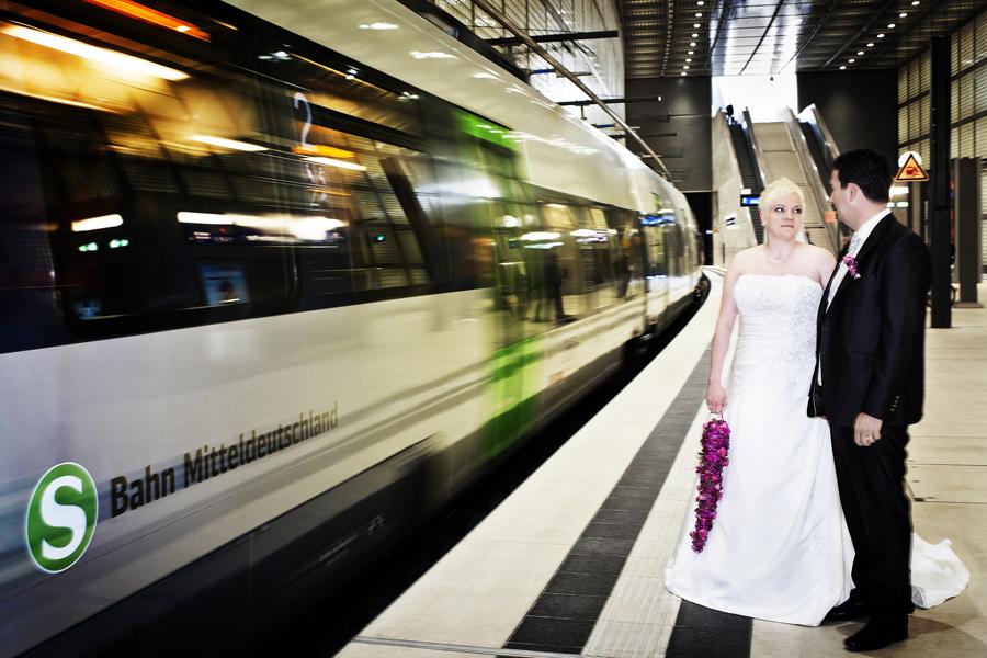 City Tunnel Markt Leipzig Hochzeitsfotografen unter Tage