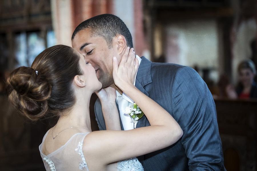 Glück Liebe Hochzeit Kuss