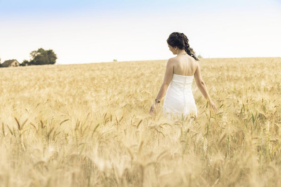 Hochzeitsfotos im Feld