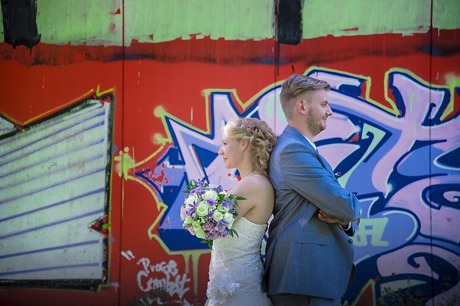 farbige Hochzeitsfotos