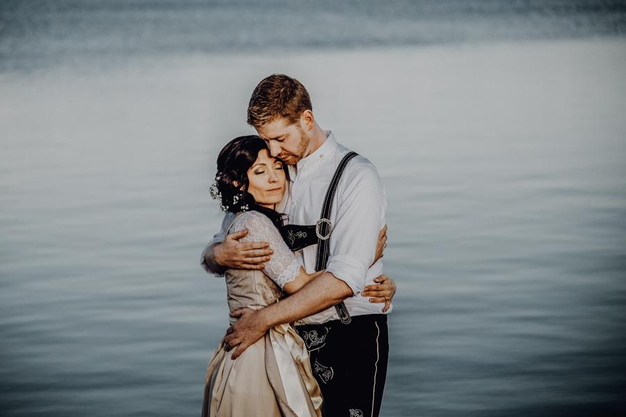 Bayrische Hochzeit am Strand