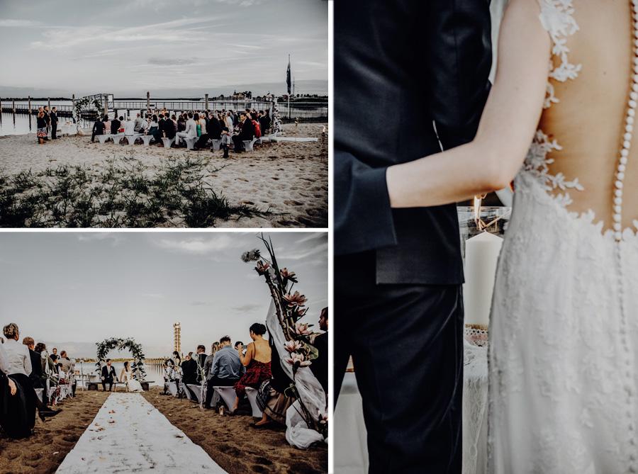 Trauung am Stand - begleitet von den Hochzeitsfotografen Leipzig