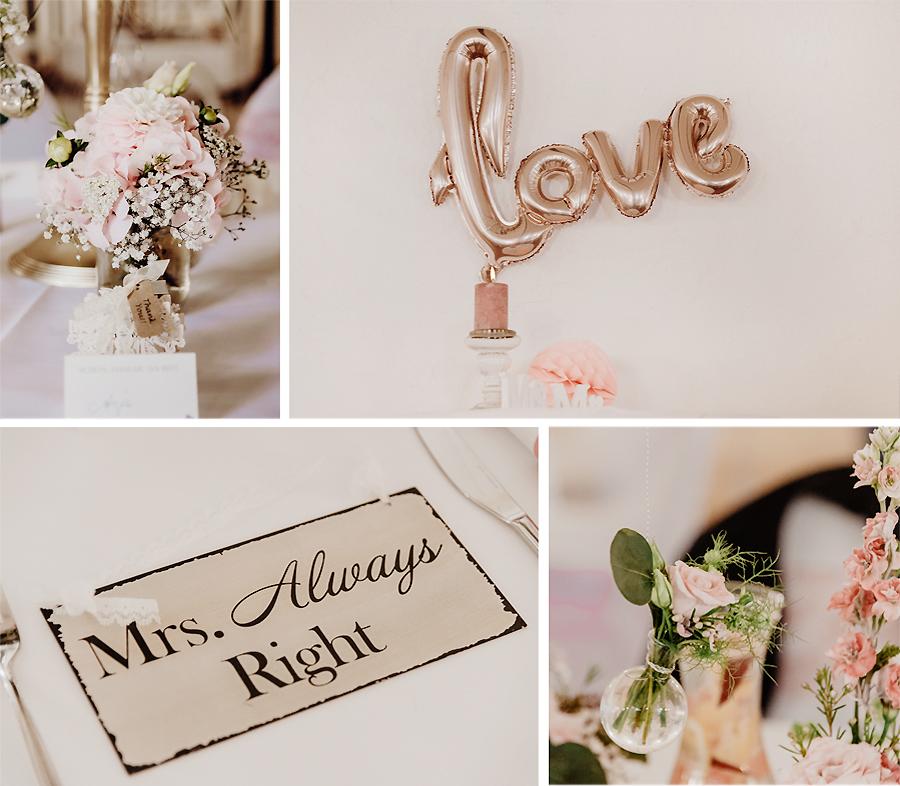 Vintage-Hochzeitsdekoration Inspiration