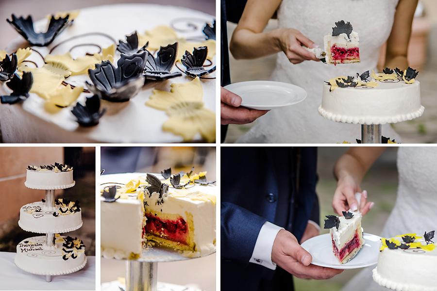 köstliche Hochzeitstorte