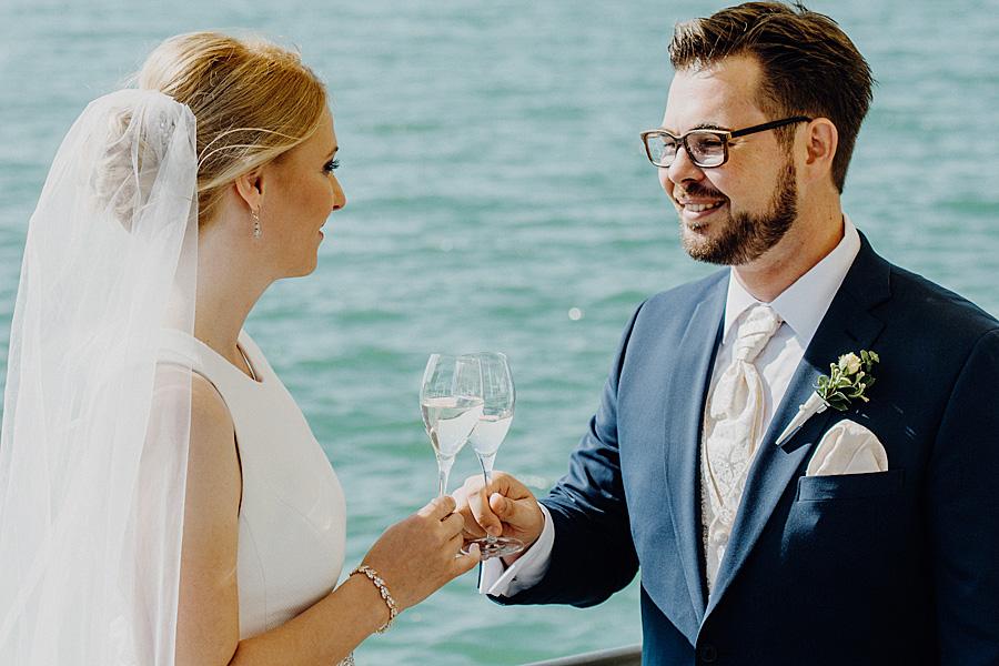 Hochzeitsfoto Sektempfang
