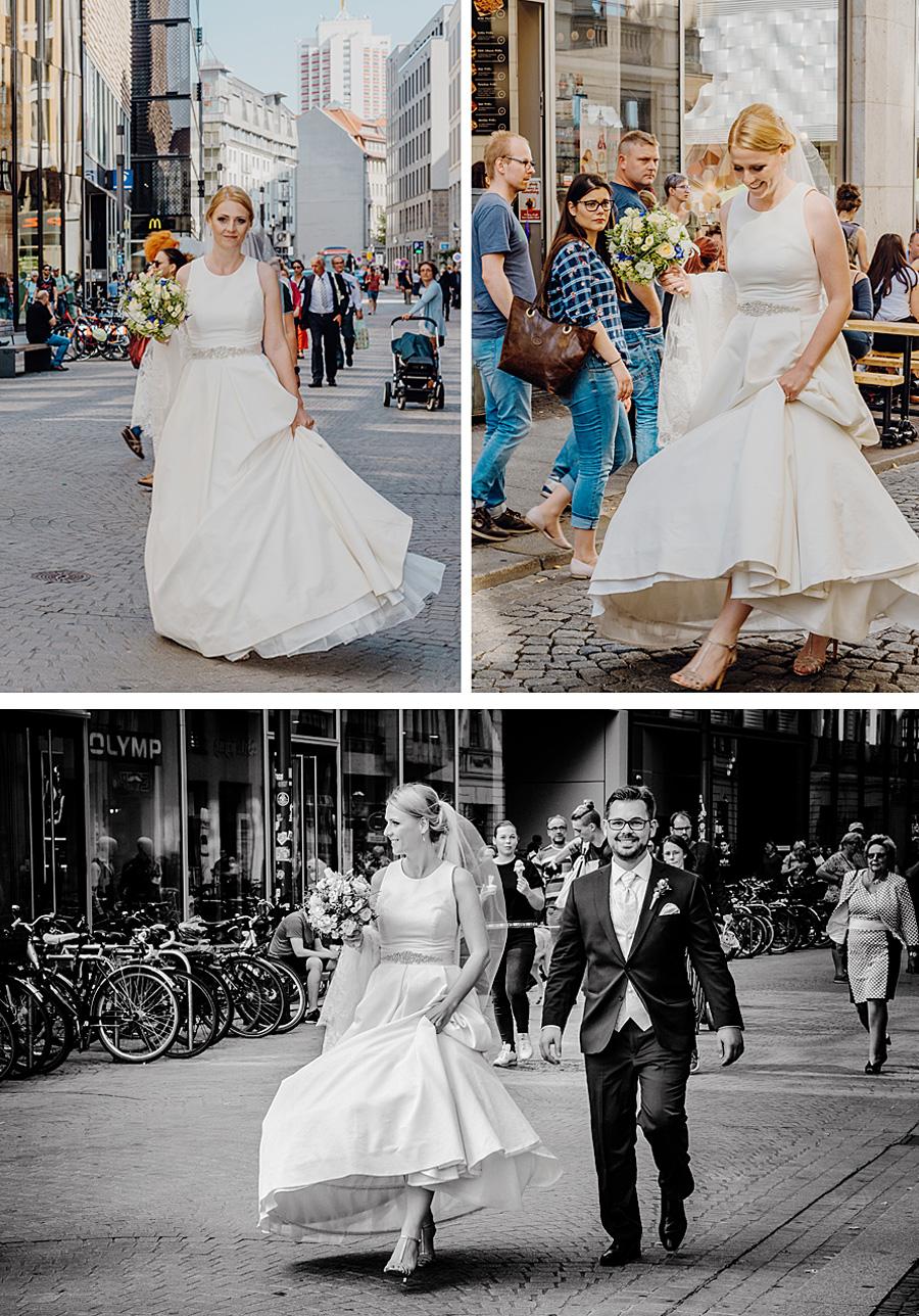 Hochzeit in der Innenstadt Leipzig