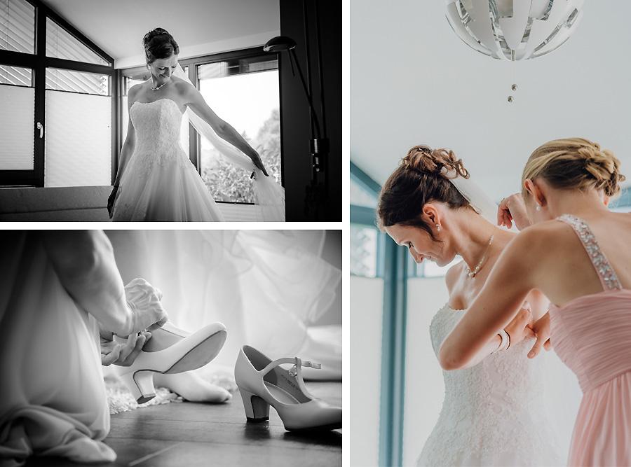 Die Brautvorbereitung zu Hause
