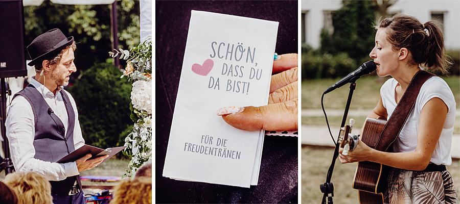 Hochzeitsredner und Hochzeitssängerin