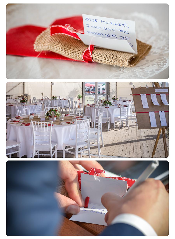 Hochzeitsfeier im Zelt
