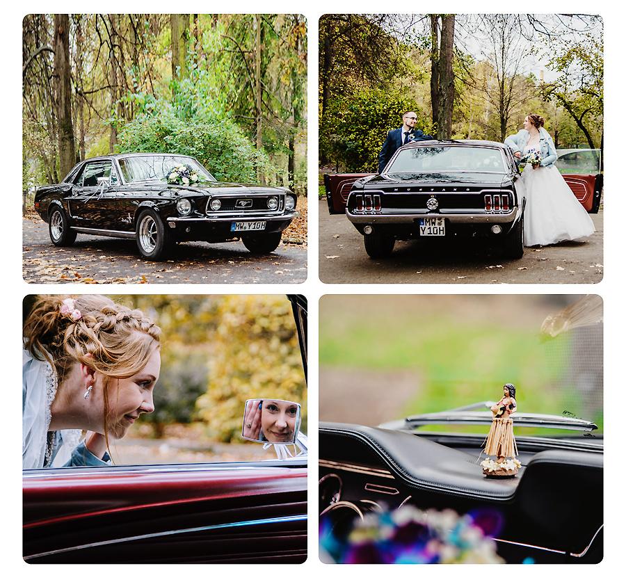 Hochzeitzsauto Ford Mustang